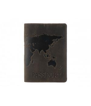 """Обложка для паспорта """"Antik Map"""" Brown"""