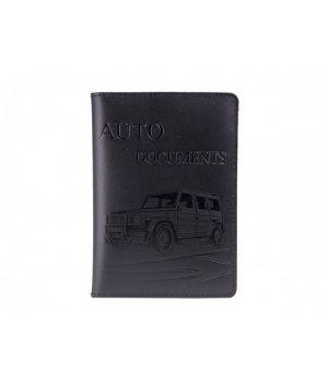 """Обложка для автодокументов """"AUTO DOCUMENTS"""" Car Black"""