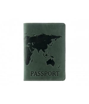 """Обложка для паспорта """"Antik Map"""" Green"""