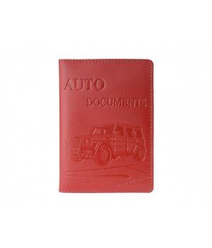 """Обложка для автодокументов """"AUTO DOCUMENTS"""" Car Red"""