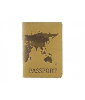"""Обложка для паспорта """"Antik Map"""" Light Brown"""
