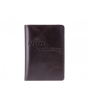 """Обложка для автодокументов """"AUTO DOCUMENTS"""" Alkor Brown"""