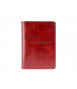 """Обложка для автодокументов """"AUTO DOCUMENTS"""" Alkor Red"""