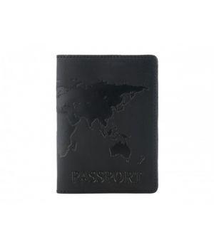 """Обложка для паспорта """"Antik Map"""" Black"""