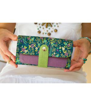 Большой дизайнерский кошелек женский с рисунком Мотивы Климта