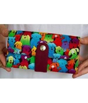 Большой дизайнерский кошелек женский с рисунком Собачки