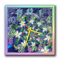 Настенные часы квадратные Ослепительные цветы