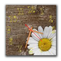 Настенные часы квадратные Милая ромашка