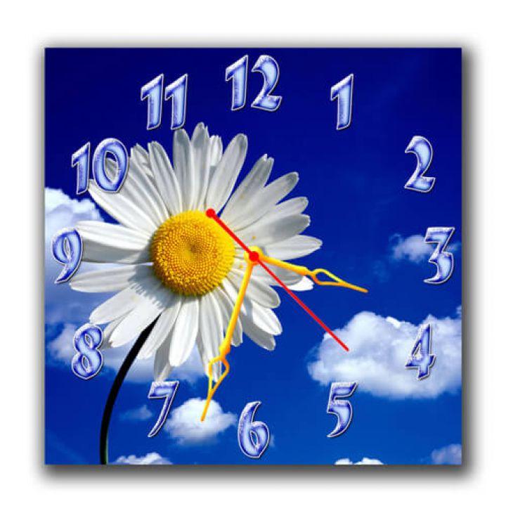 Настінний годинник квадратний Красива ромашка, 30х30 см