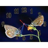 Настенные часы Милые бабочки, 30х40 см