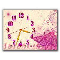 Настенные часы Розовая бабочка