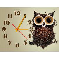 Настінний годинник Кавова сова