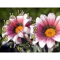Настенные часы Роскошные цветы, 30х40 см