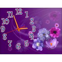 Настенные часы Фиолетовая композиция