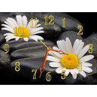 Настенные часы Ромашки на камне, 30х40 см