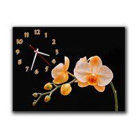 Настенные часы Оранжевая орхидея, 30х40 см