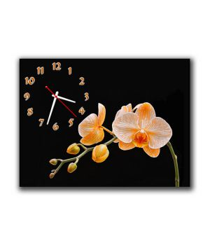 Настінний годинник Помаранчева орхідея, 30х40 см