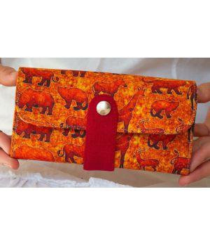 Большой дизайнерский кошелек женский с рисунком Саванна
