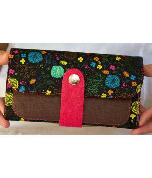 Большой дизайнерский кошелек женский с рисунком Розочки