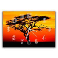 Настінний годинник Дерево на заході, 30х45 см