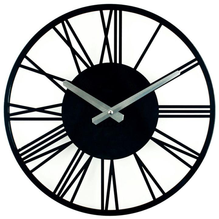 Дизайнерские настенные часы Glozis Rome Black