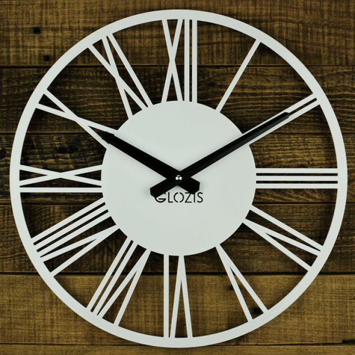 Настенные часы в скандинавском стиле Glozis Rome White