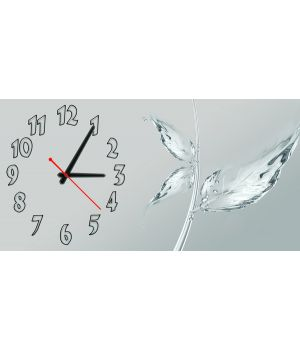 Настенные часы Кристальный лист, 30х60 см