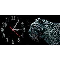 Настенные часы Леопард на черном