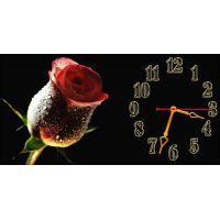 Настенные часы Нежная роза, 30х60 см