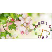 Настенные часы Нежные цветочки, 30х60 см