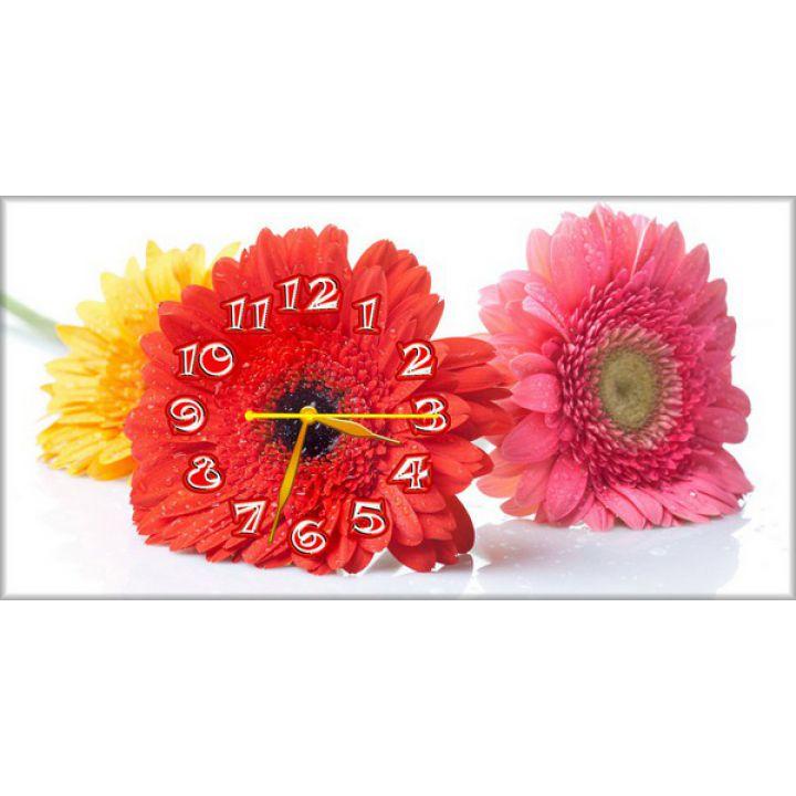 Настенные часы Яркие цветочки