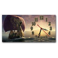 Настінний годинник Таємничий корабель, 30х60 см
