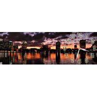 Настенные часы Городская панорама