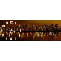 Настенные часы Красота ночного города, 30х90 см