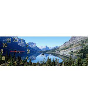 Настінний годинник Гірське озеро, 30х90 см