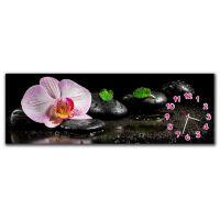 Настенные часы Розовая орхидея