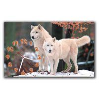 Настенные часы Молодые волки, 30х50 см