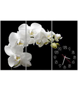 Модульные настенные часы Чувственная орхидея