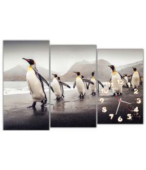 Модульные настенные часы Пингвины