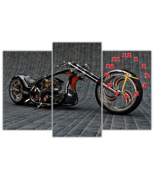 Модульные настенные часы Мотоцикл