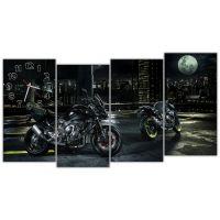 Модульные настенные часы Мотоциклы