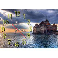 Настенные часы Дивный замок, 30х45 см