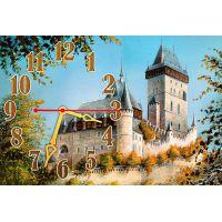 Настенные часы Красивый замок, 30х45 см