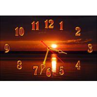 Настенные часы Летний закат, 30х45 см