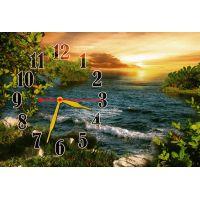 Годинник настінний Легкі хвилі, 30х45 см