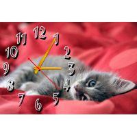 Настенные часы Котик, 30х45 см
