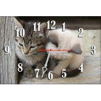 Настенные часы Милые котята