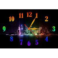 Настенные часы Разноцветный мегаполис, 30х45 см