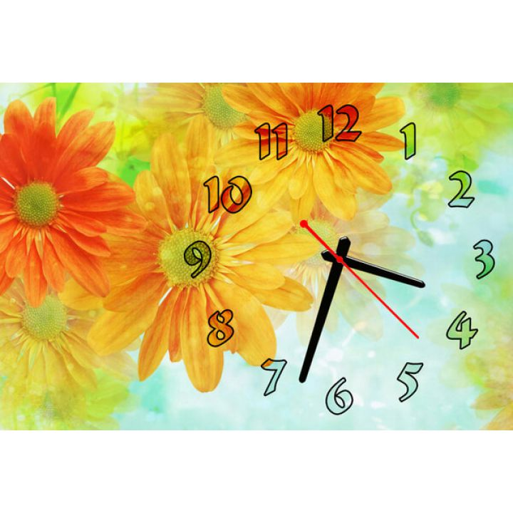 Настенные часы Цветочки