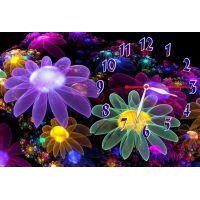 Настенные часы Фантастические цветы, 30х45 см
